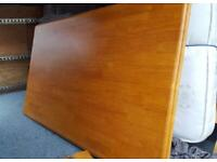 Large wooden dining table and 6 chairs