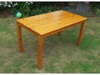Habitat solid pine table