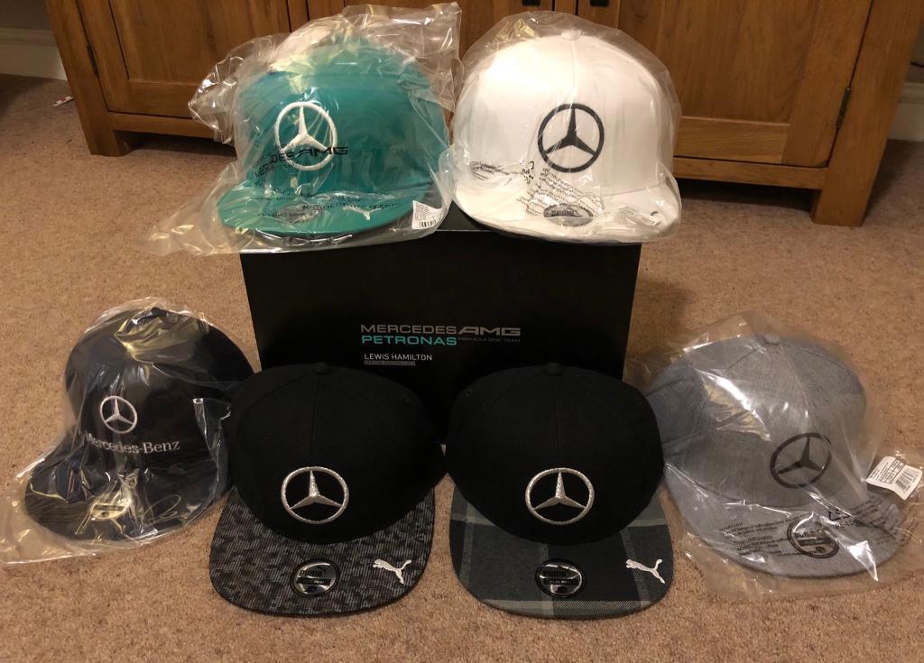 Lewis Hamilton F1 Formula 1 Limited Edition Mercedes Caps Hats Collection  Box Set 2014 Complete New 5927c4374e2e