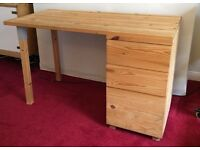 (USED) IKEA Wooden Desk in Rutherglen