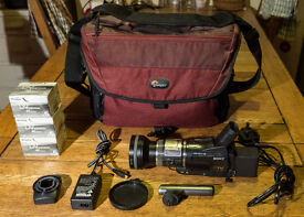 Sony HDR-HC1E HDV Camcorder (Nightvision) + Wide Angle Adapter + Lowepro Bag (Offers Welcome) VGC