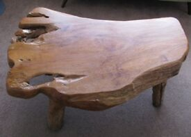 (Very) solid teak (wood) coffee table