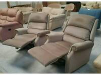 A pair of recliner chairs in good clean condition can deliver 07808222995