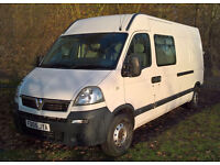 Vauxhall Movano DTI 2.5L LWB van or unfinished Campervan
