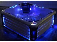 LUSO SPAS 5-6 SEAT HOT TUB SPA BRAND NEW RRP £6999 LIGHTS MUSIC FREE COVER