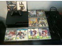 PlayStation 3 slim 160GB with 10 games