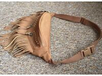 Brown Bum Bag with tassels