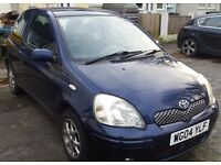 Yaris, D4D, 96k, Low tax (£30) Blue, quick sale.