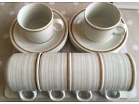 Churchill Homespun Stoneware 6 cups and 6 saucers