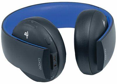 Sony PlayStation Gold Wireless Stereo Headphones Black/Blue - 10029