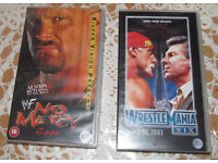 2 Classic VHS Tapes- WWF - No Mercy 2000 & WrestleMania XIX (2003)