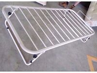White single metal guest bed frame (90cm x 190cm) in good condition