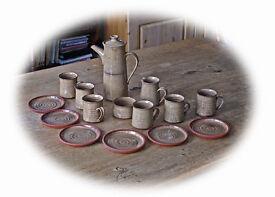 Pottery Coffee Set