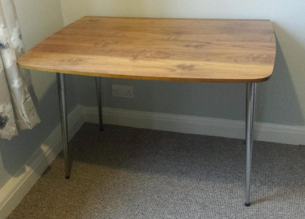 Dining Table With Two Fold Out Flaps Could Be Used As