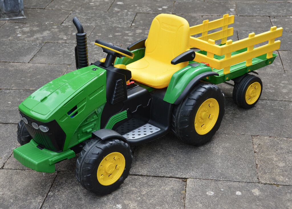 Peg Perego John Deere Ground Force 12v Electric Tractor