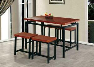 f1e70f935693 NEW 5 PIECE COUNTER HEIGHT TABLE SET TABLST