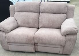 Tan Cloth Electric Remote Recliner Seater