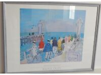 Raol Dufy The Pier at Deauville Professionally framed art print. 63 * 48 cm