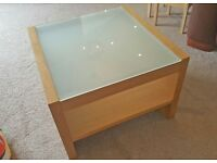 Glass top side / coffee table