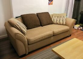 Cream Couch with Cushions