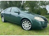 AUTOMATIC NISSAN PRIMERA - 1 YEARS MOT - 73K LOW MILES - LEATHER - SERVICE HISTORY