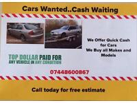 Old cars and vans wanted