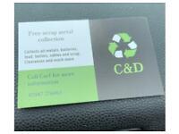 FREE SCRAP METAL COLLECTION/BUY SCRAP CARS/VANS