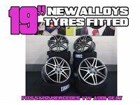 "4 NEW 19"" STYLED ALLOYS WHEELS + TYRES MERCEDES AMG C63 CLS CLK CLA SL SLK S E C B A CLASS SPORT"