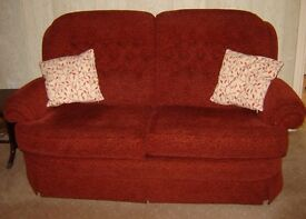 Small two seat sofa and chair