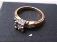 Dress ring with single stone