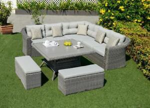 ( Scan 1031 ) Boracay ensemble sofa extérieur 6 pièces