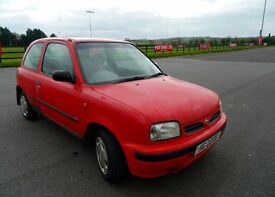 Nissan Micra k11 1996. Red. Sunroof. Central Locking. CD Player.