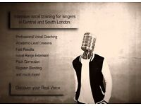 PROFESSIONAL SINGING LESSONS AND INTENSIVE VOCAL TRAINING FOR SINGERS IN CENTRAL AND SOUTH LONDON