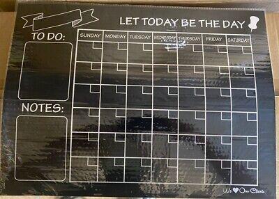 Weekly Magnetic Blackboard Calendar Dry Erase Board Fridge Planner Organizer