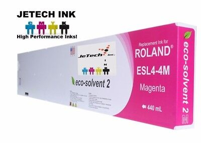 Roland Esl4-4 Eco-solvent Max2 Compatible 440ml Ink Cartridge - Magenta