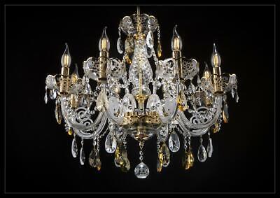 Cubrir Péndulo Araña de Cristal Bohemia Lámpara Dorada Lámparas