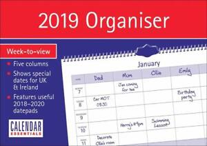 2019 Family organiser Calendar Home planner Week to view Calender