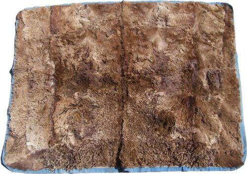 Nice Antique Hair On Bear or Buffalo Buggy/Sleigh/Carriage Lap Robe 51x62 inches