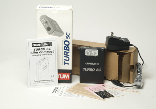 New Open Box Quantum Turbo SC Battery Pack & Charger for Qflash Canon Nikon