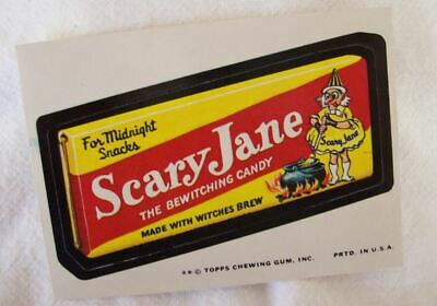 1974 Topps Wacky Packages Mary Scary Jane Halloween Candy 10th Series 10 EX - Halloween Anime Series