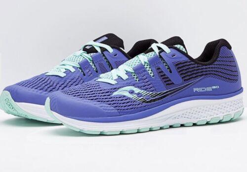 Saucony Ride ISO GIRLS Running Shoe SIZE 4.5 Violet & Aqua N