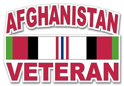"Afghanistan Veteran 8"" Window Sticker 'Officially Licensed'"