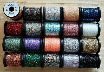 "Floss.Yarn Thread Tinsel Mohair /""Uni-Flexx Combo/"" Fly Tying Tins Thread"