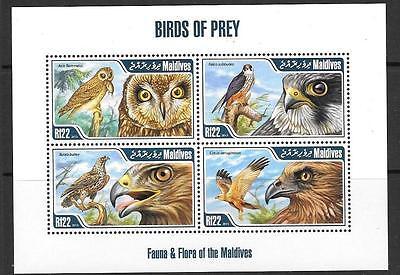 MALDIVE ISLANDS Sc3049 2013 BIRDS OF PREY (NO 1)  MNH