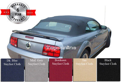 Ford Mustang Convertible Soft Top With Heated Glass Window Haartz Cloth 2005-14
