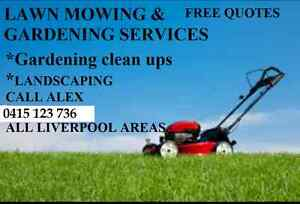 LAWN MOWING AND GARDENING SERVICES LIVERPOOL AREAS Liverpool Liverpool Area Preview