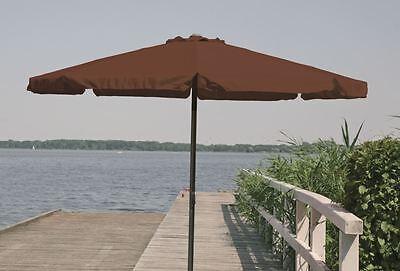 Sonnenschirm 3 m Kurbelschirm Gartenschirm Balkonschirm knickbar Alu 300cm braun