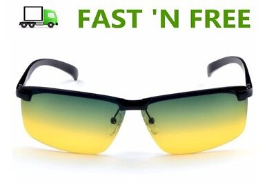 2 Tone Yellow Green Lens Day Night Vision Driving Glasses Or Glasses Accessories