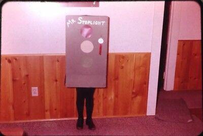 Original 35mm Slide Funny Strange Halloween Costume Mr. Spotlight People Family](Funny Halloween Costumes Original)
