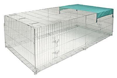 Freilauf-Gehege 230cm Ausbruchsperre Freigehege für Nager Hasen Kaninchen